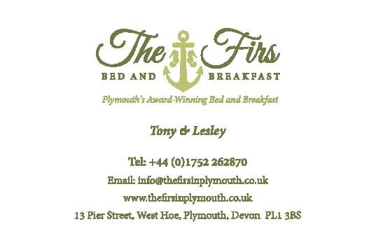 Graphic design in Plymouth  The Firs Business Card