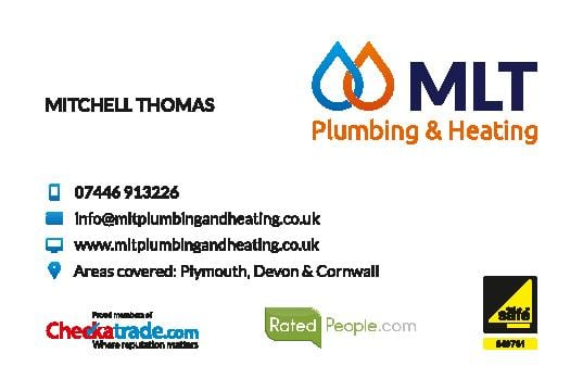 Graphic design in Plymouth  MLT Business Card