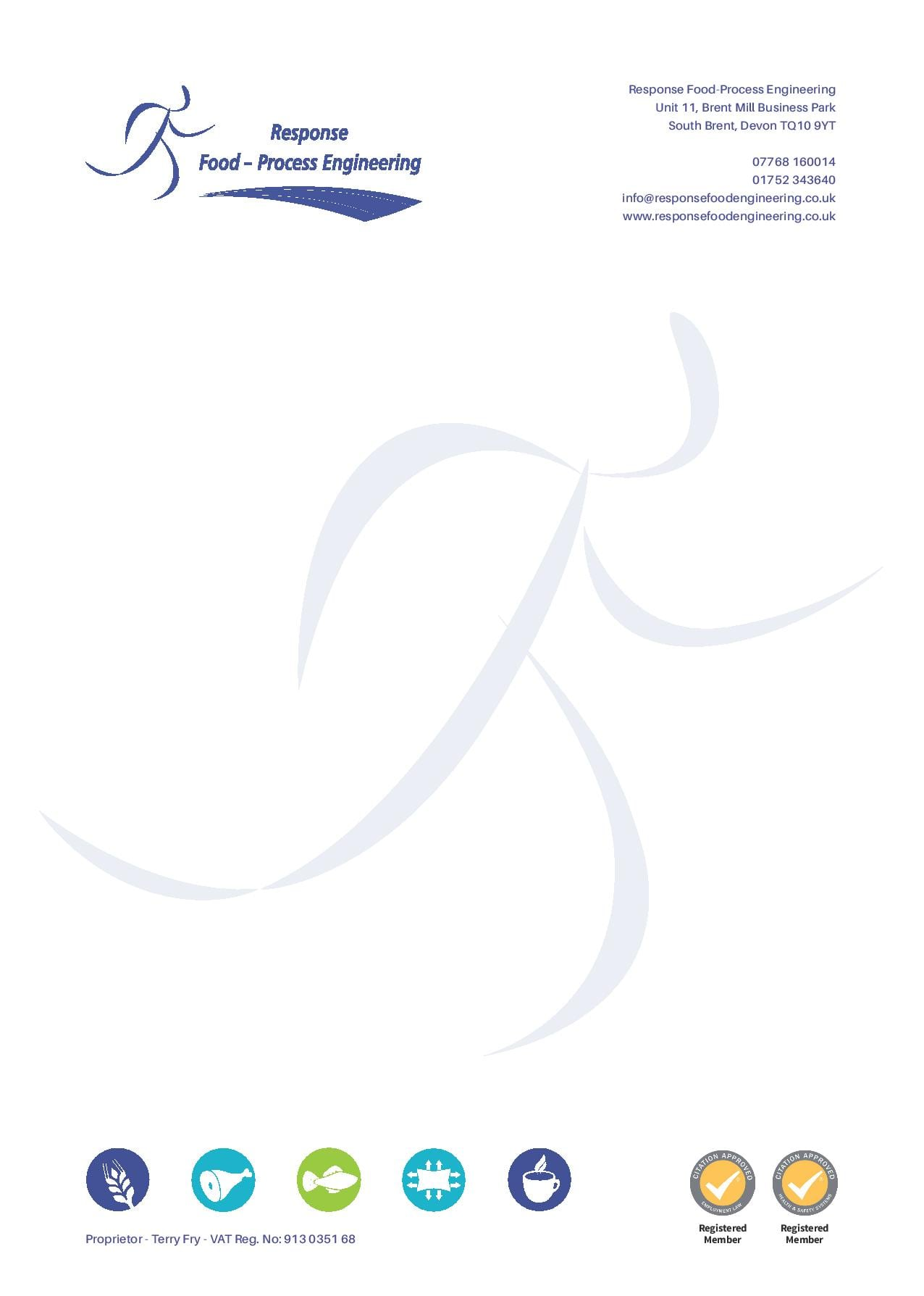 Graphic design in Plymouth  Response Letterhead Design