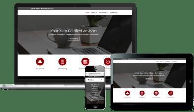 Online presence responsive website