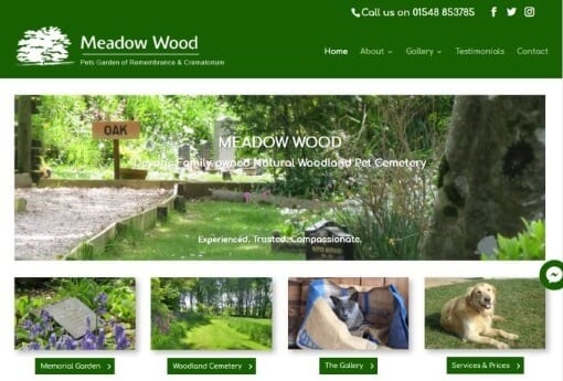 Recent Work Meadow Wood Website