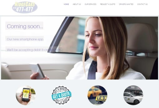 Recent Work Ridgecabs Website
